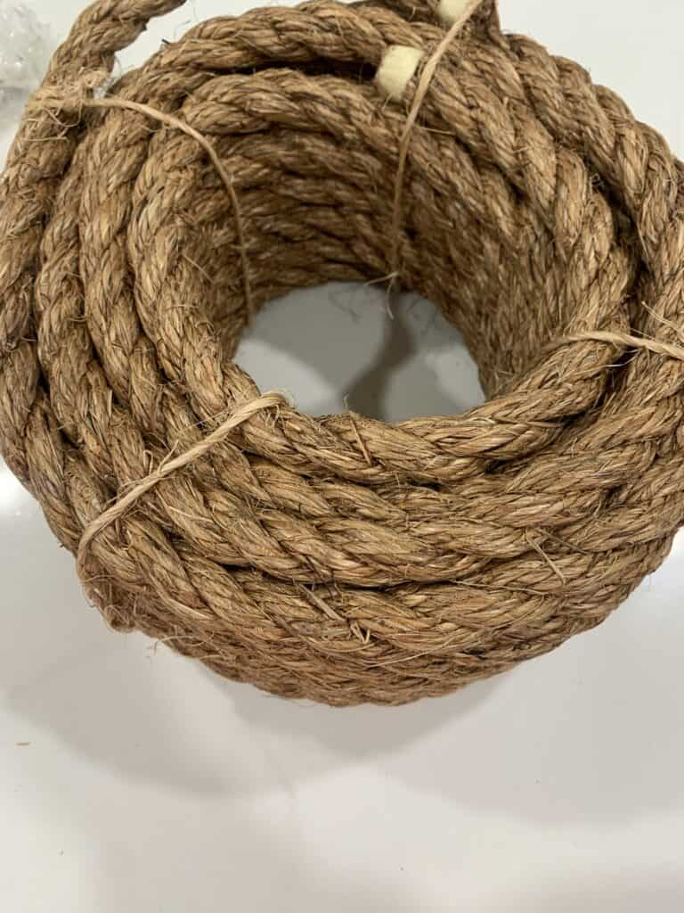 rope for hanging a DIY Porch Swing