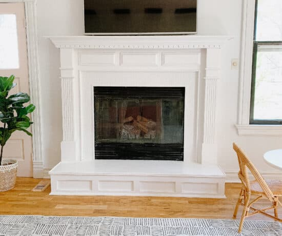 diy penny tile fireplace