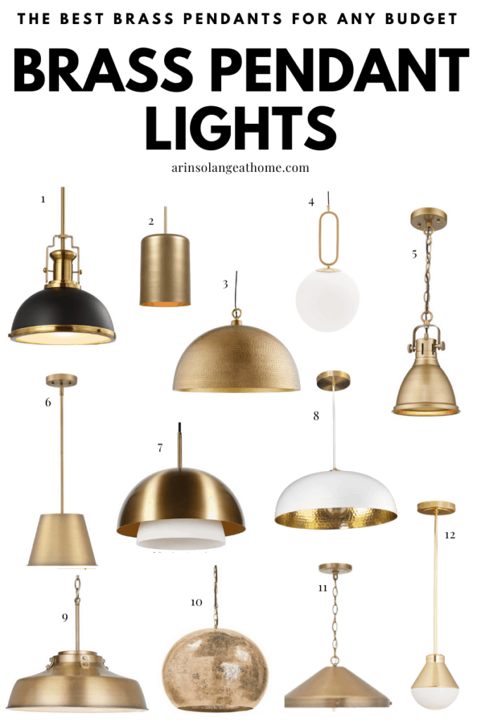 Brass pendant light options for your kitchen