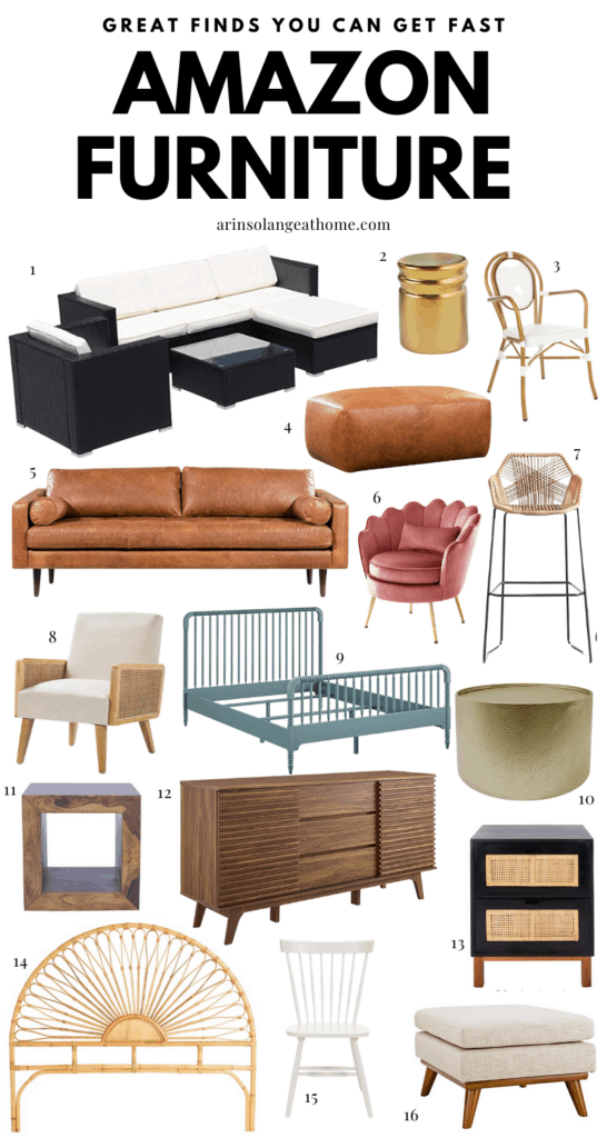 a round up of furniture from Amazon