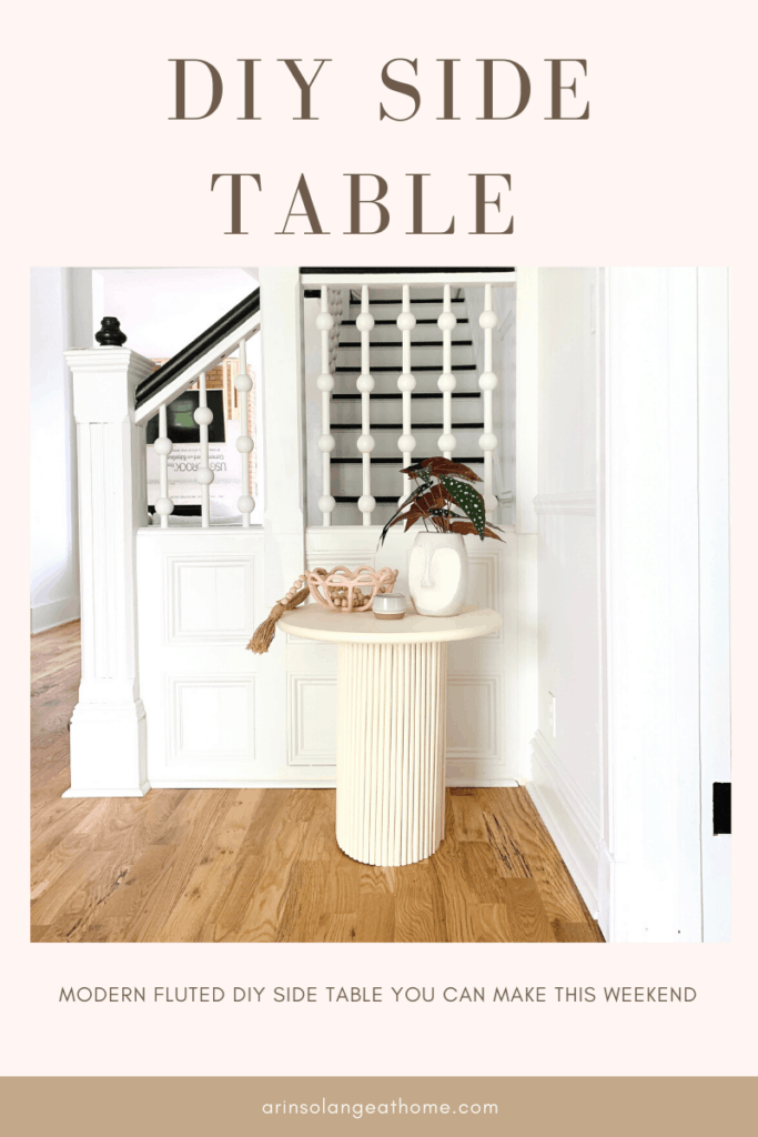 DIY Side table with dowels