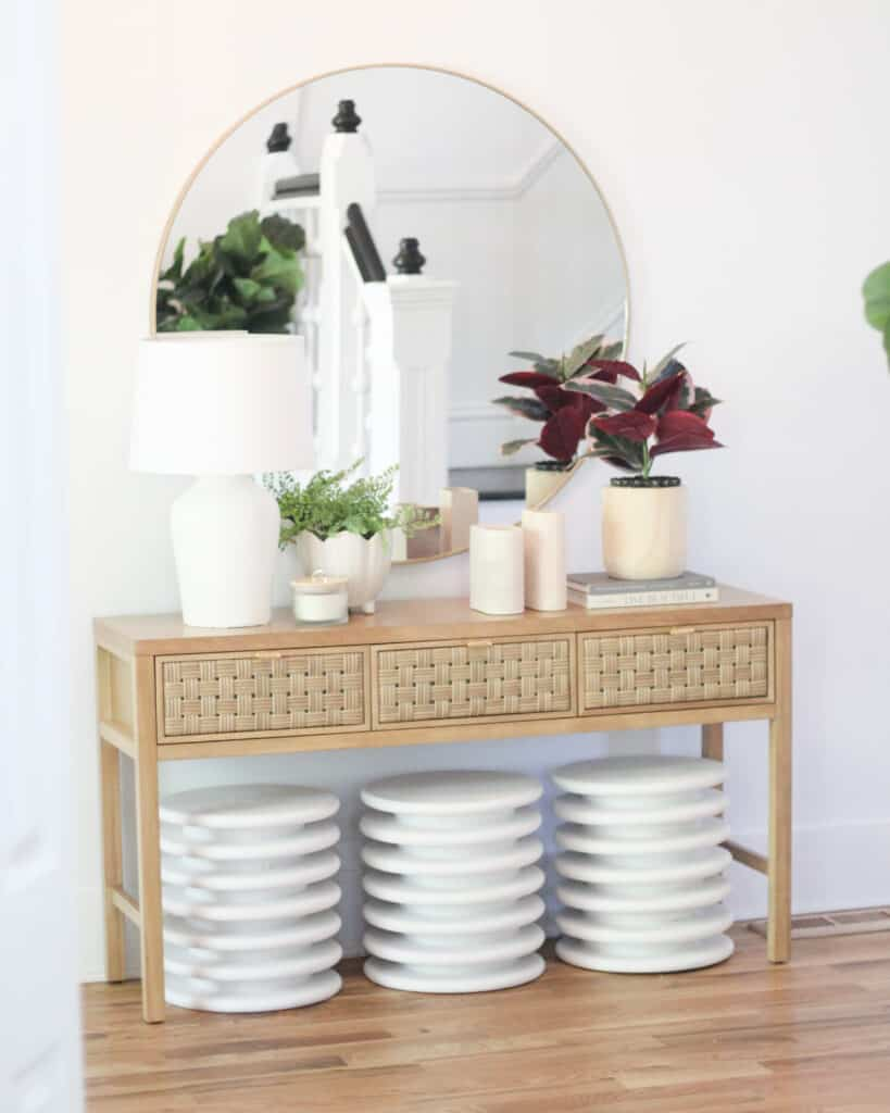 Entryway with Stools