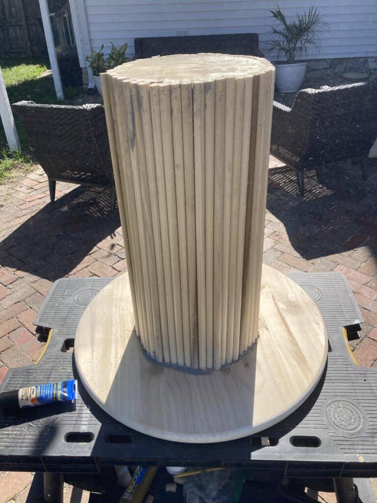 DIY Dowel Side Table