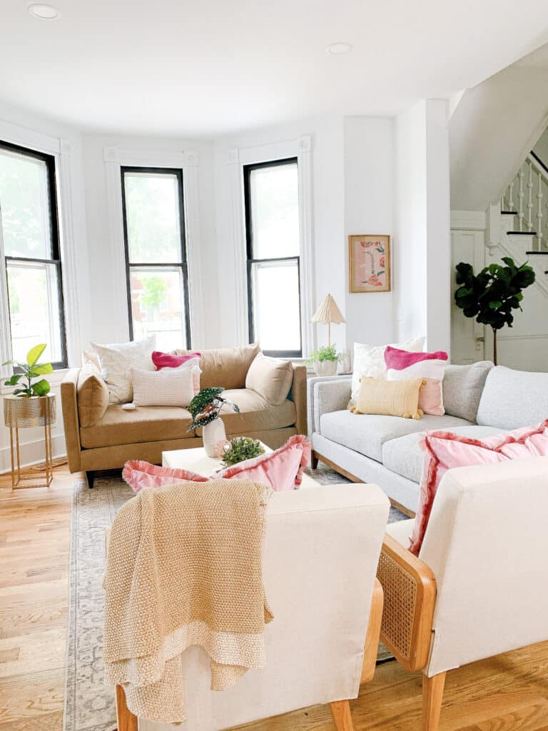 Living room with Jonathan Louis Furniture
