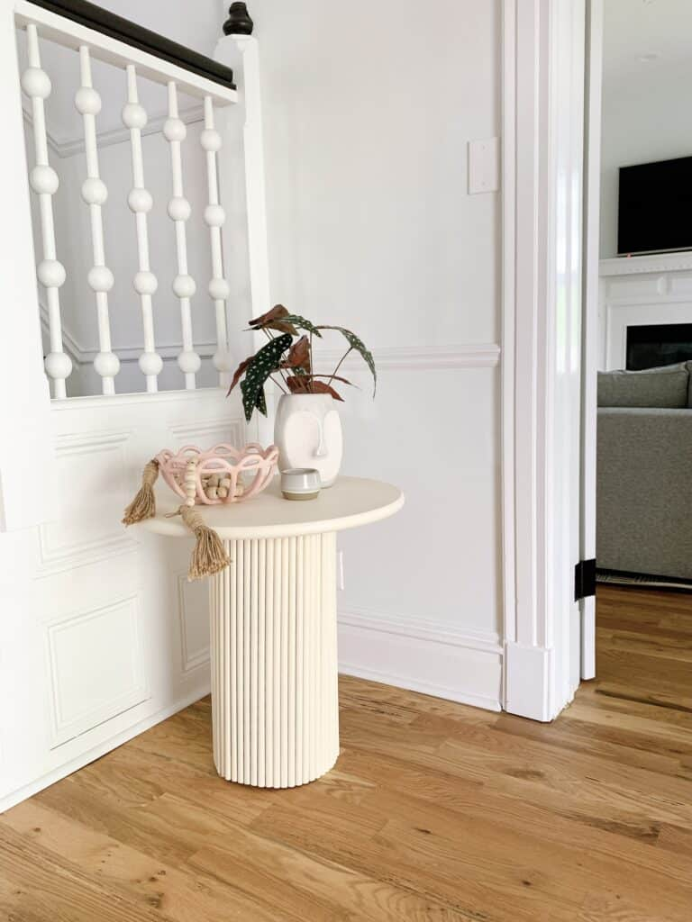 fluted base side table