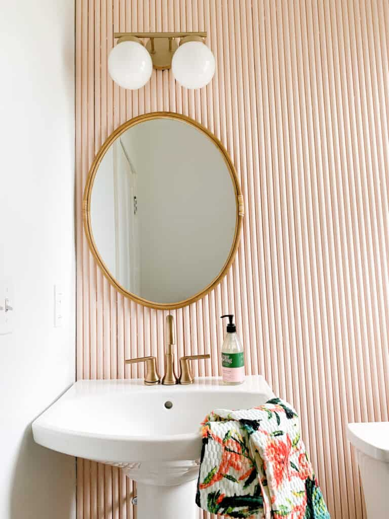 pink fluted wall