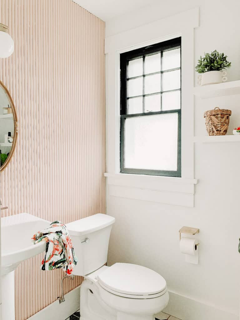 pink and modern bathroom