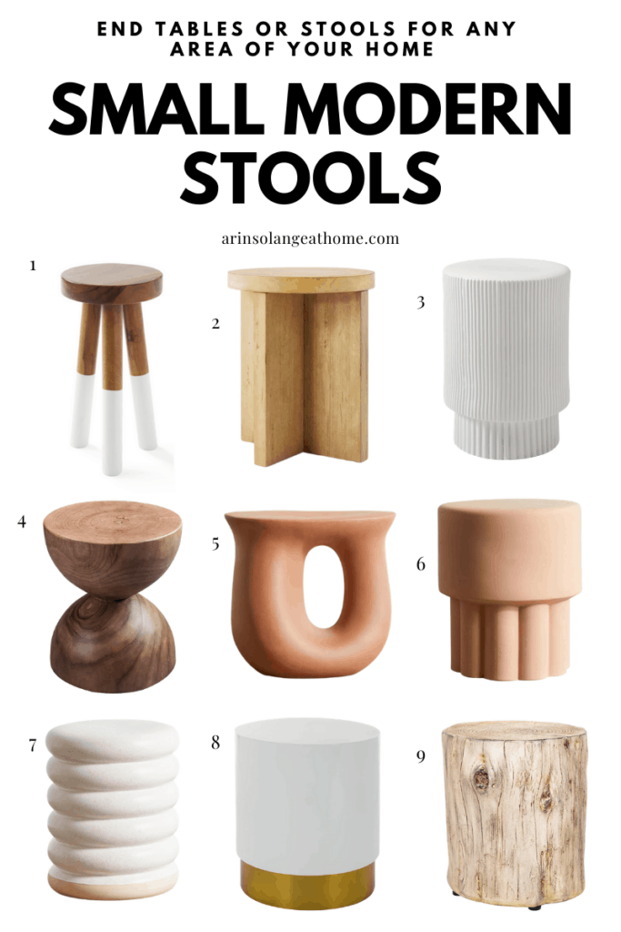 small entryway or side table stools