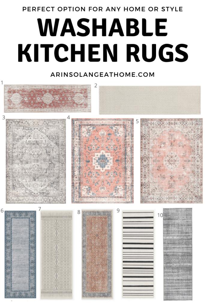 washable kitchen rug ideas