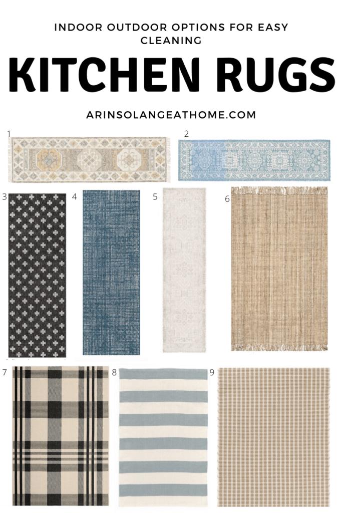 Indoor outdoor kitchen rug ideas