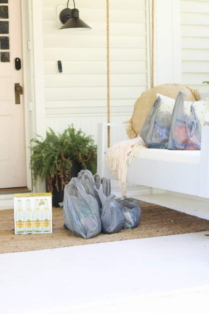 front porch with Walmart delivery order