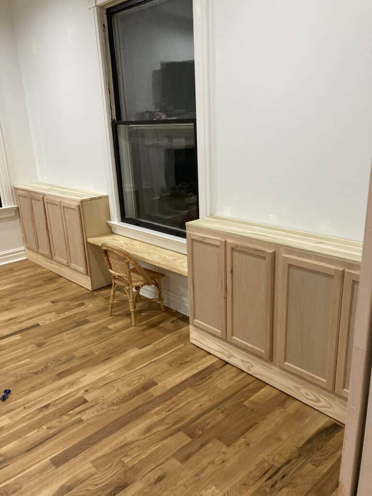 DIY built in cabinets from stock cabinets