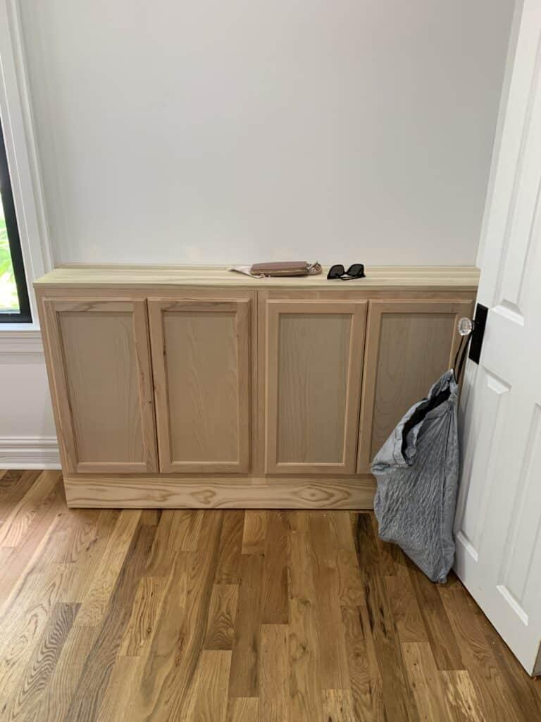 DIY built in cabinets