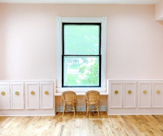 DIY built ins from stock cabinets