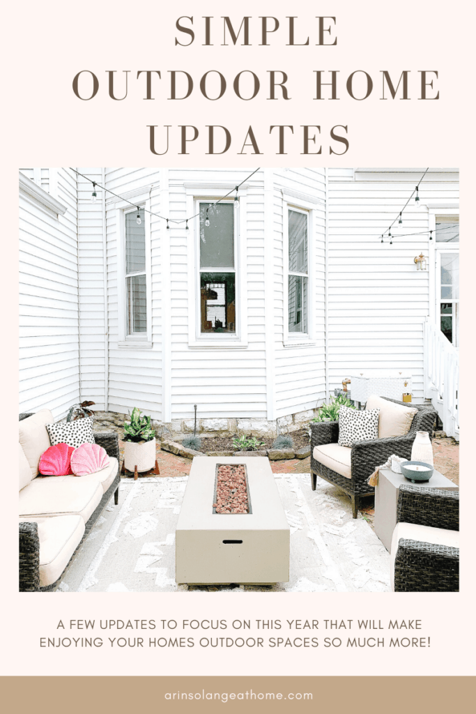 simple outdoor home updates