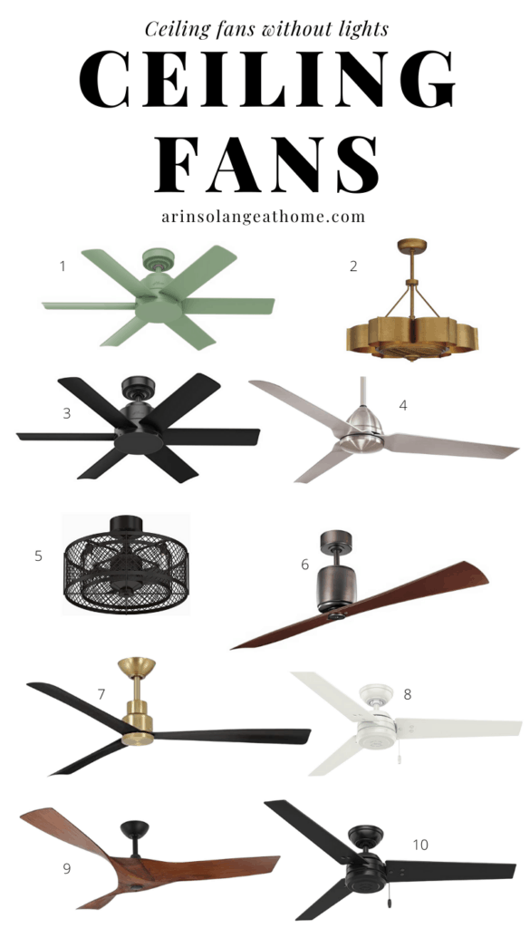 best ceiling fans for bedroom with no lights