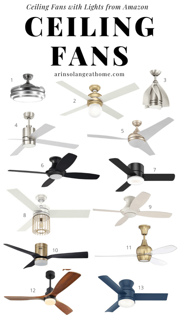 best ceiling fans for bedroom with lights