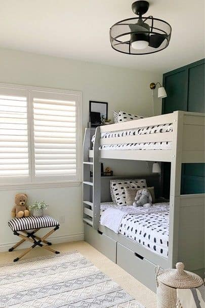 boys bedroom with bunk beds