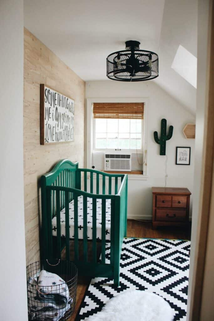 green and neutral nursery