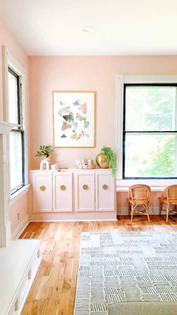 Minted Moth Prints in Playroom