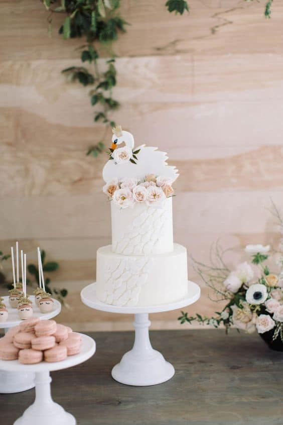 swan birthday cake  - 2nd birthday ideas for girl