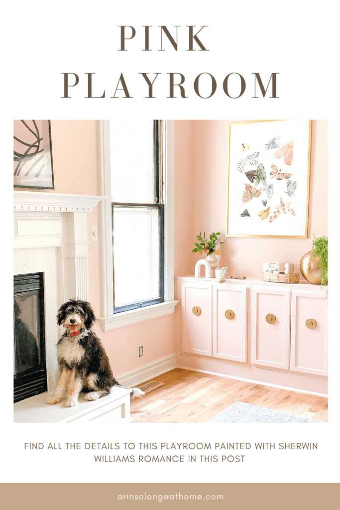 Pink playroom with Sherwin Williams Romance
