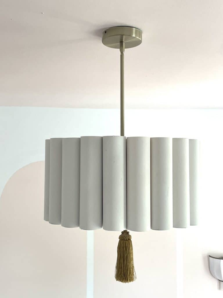 DIY Light Fixture made with PVC Pipe