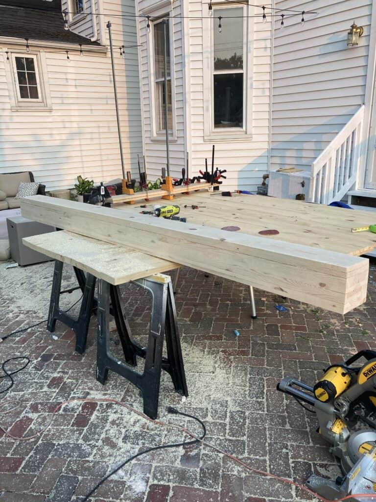 large legs for DIY Dining Table