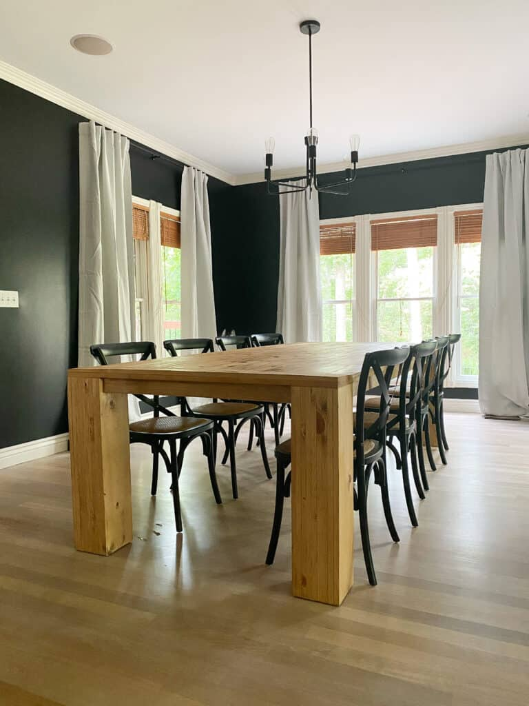 DIY Dining table In dining room