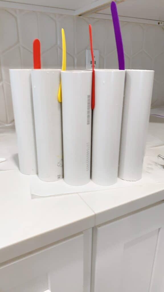 PVC pipe on DIY Light Fixture