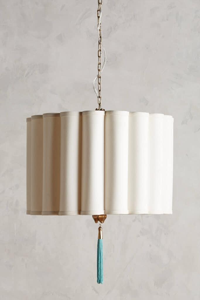 Fluted light fixture
