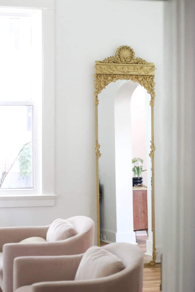 DIY Mirror frame - gold