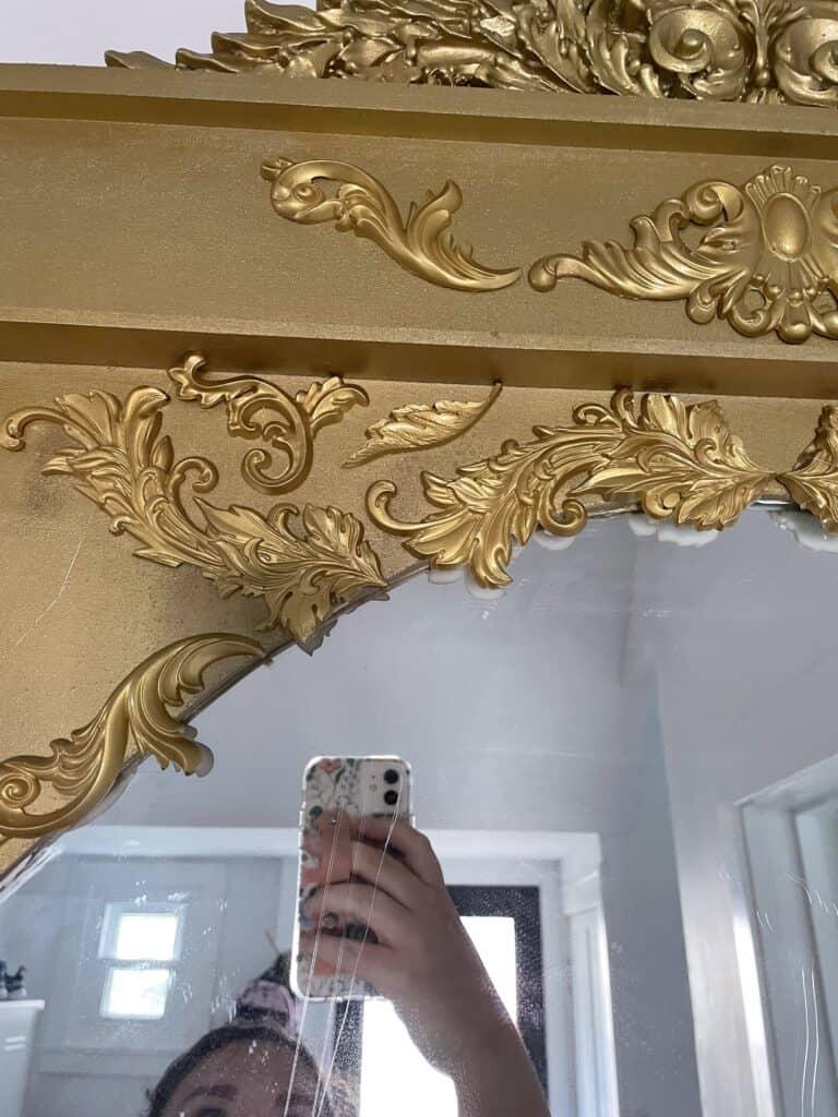 adding resin molds to DIY Mirror frame