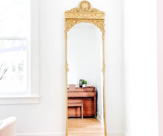 DIY Gold mirror