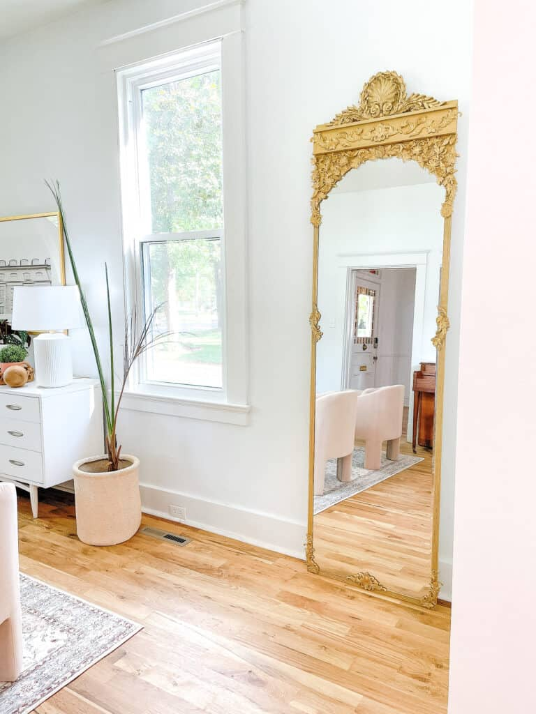 gold large mirror