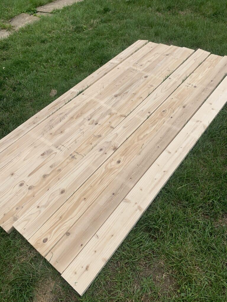 lumber for DIY dining Table