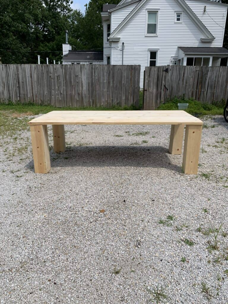 dining table before added apron pieces