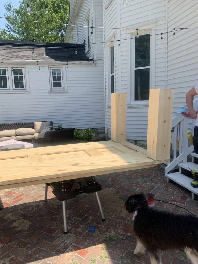 Under side of DIy Dining table