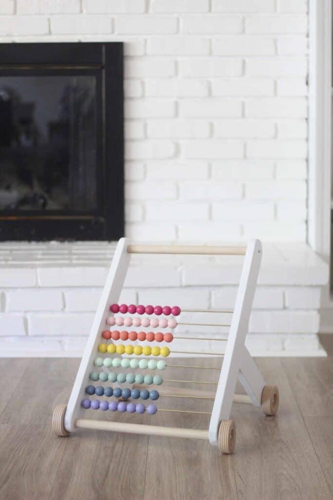 DIY rainbow push toy