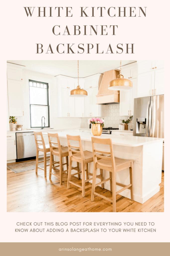 white kitchen cabinet backsplash ideas