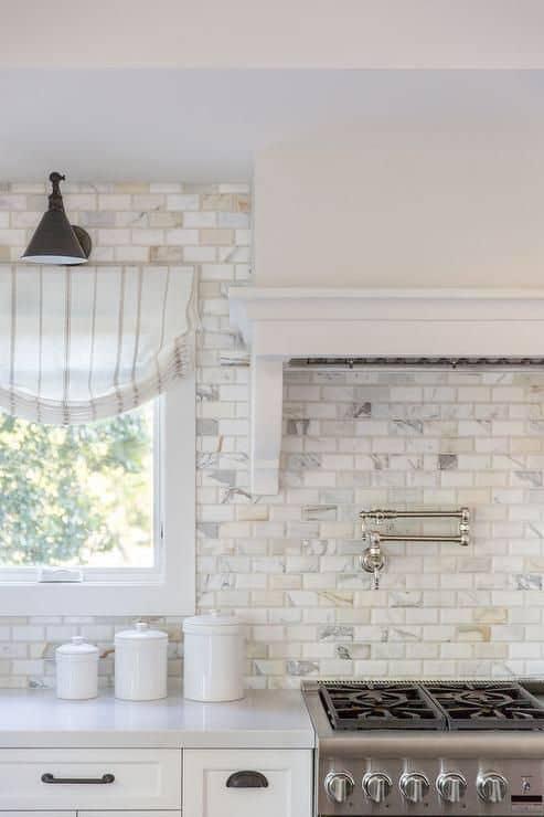 Brick backsplash kitchen