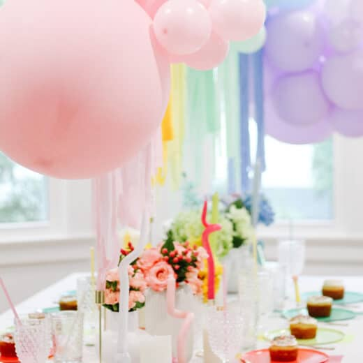 Care bear Birthday Party Tablescape