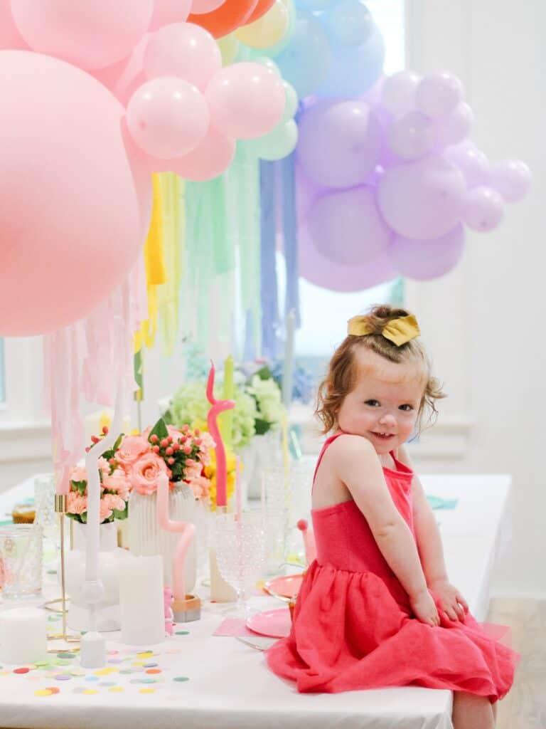 2 Year old at Care Bear Party