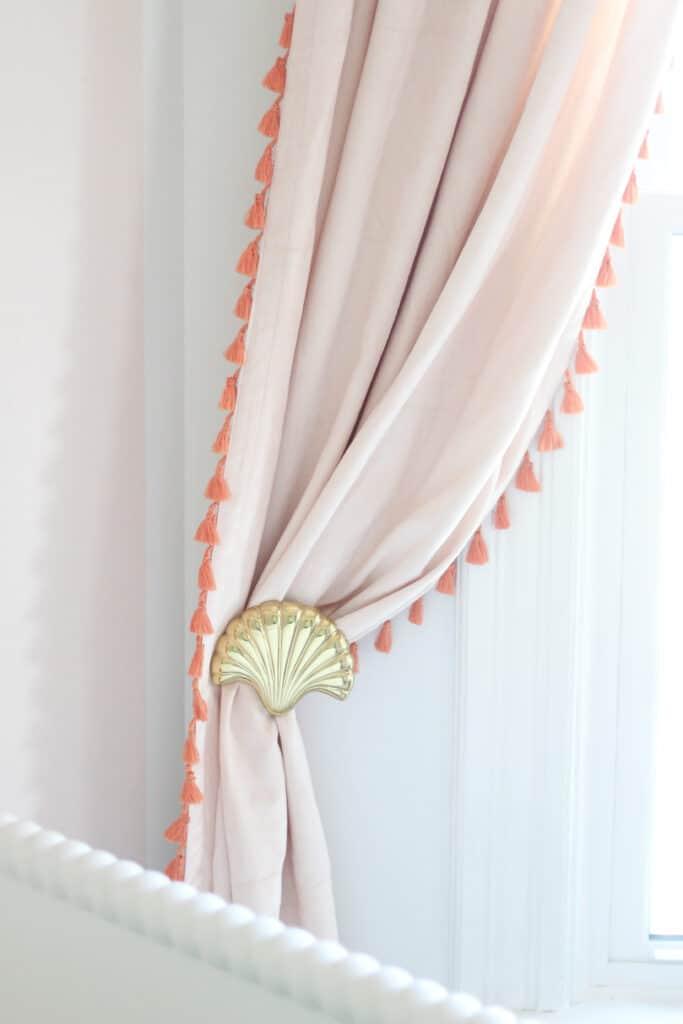 shell curtain pull backs