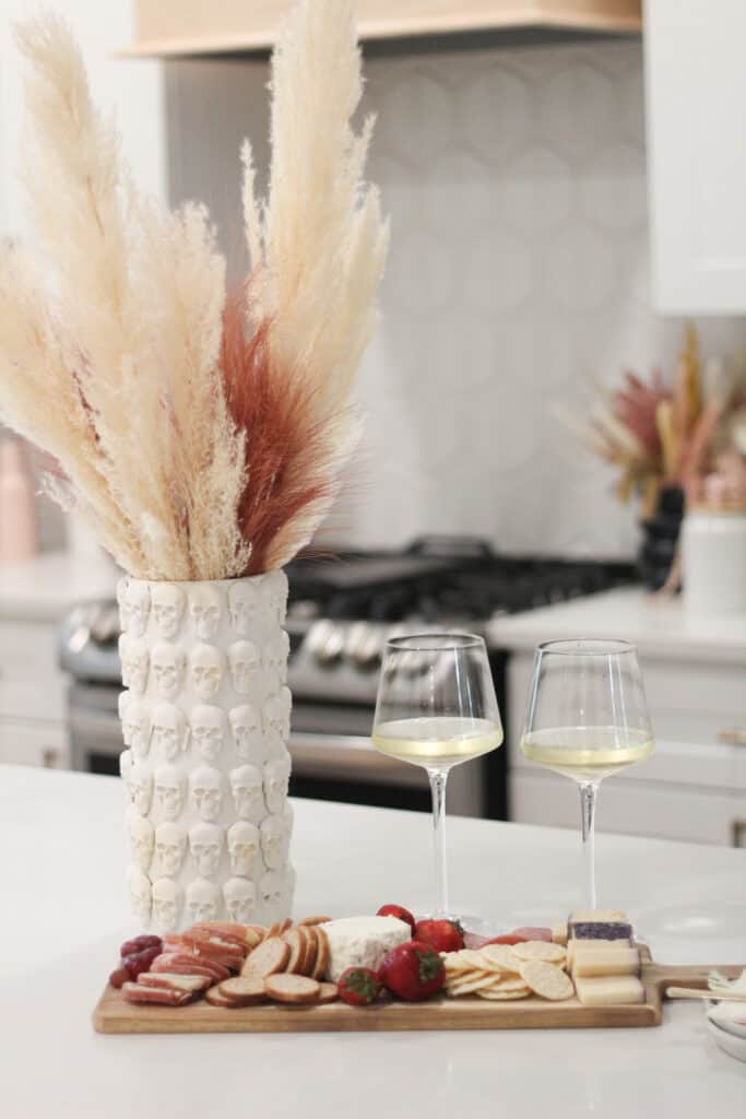 wine glasses on counter