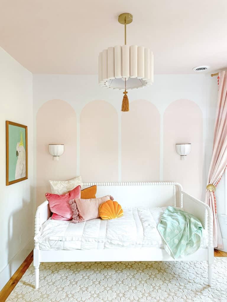 Girls room with Valspar Desert bone paint