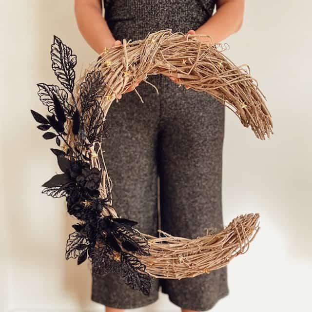 Simple monogram fall wreath
