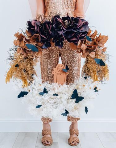 Ombre Halloween Wreath