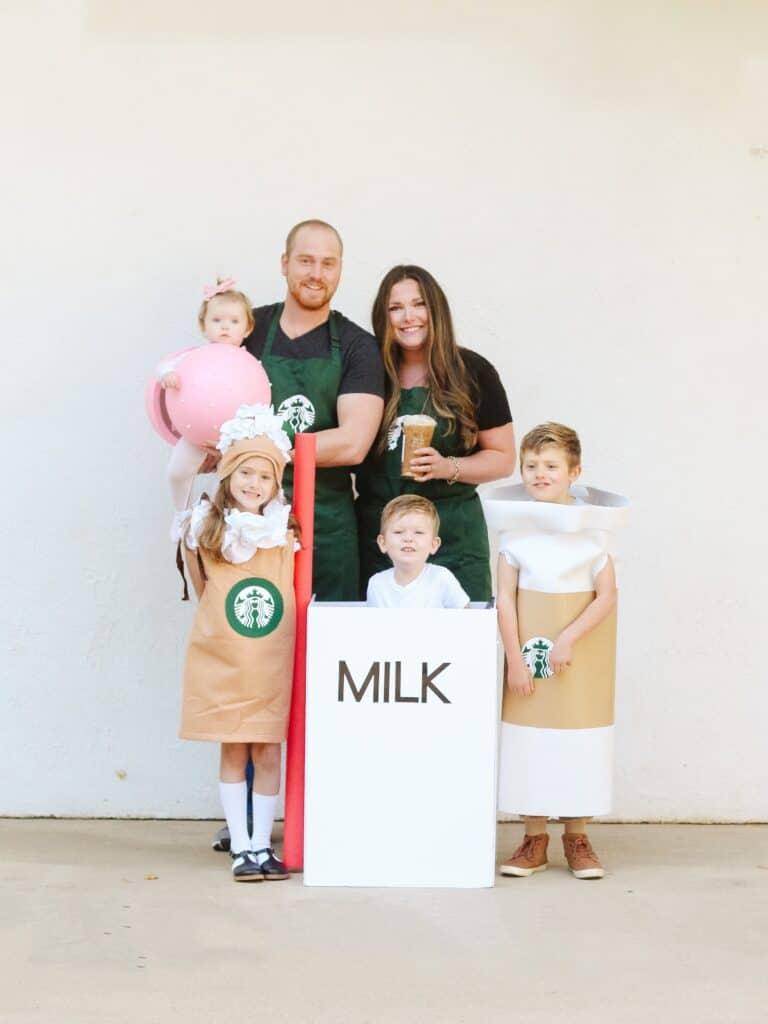 Family Starbucks Halloween Costume