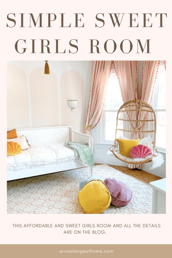 Simple girls room with Valspar Desert Bone